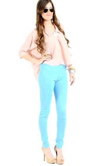 Штани бірюзового кольору