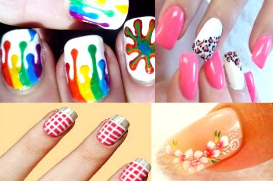 Модний річний дизайн нарощених нігтів