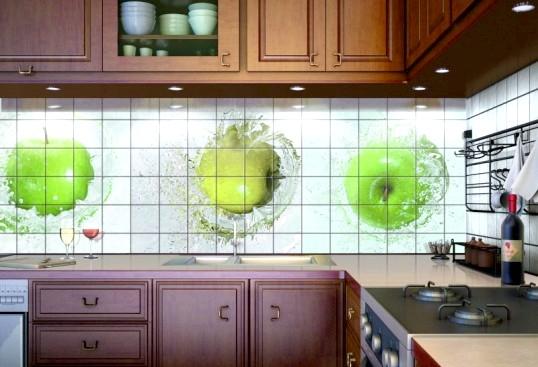 Фотоплитка для оформлення фартуха на кухні