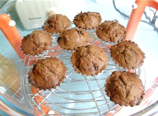 Шоколадні кексики в аерогрилі
