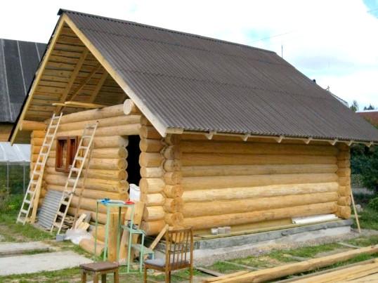 Способи будівлі лазні з колод