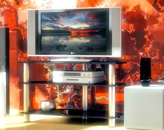 Кутова тумба під телевізор: вибираємо з урахуванням дизайну кімнати